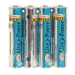 Батарейки Live-Power ALKALINE AAA 4pcsshrink