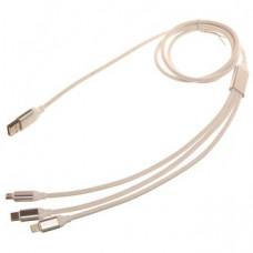 Кабель USB 3V1 REZINOVI 1,2m