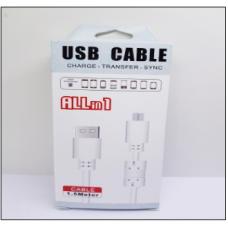 Кабель USB с Фильтром F-102 Micro USB 1500mm (дешевый в упаковке)