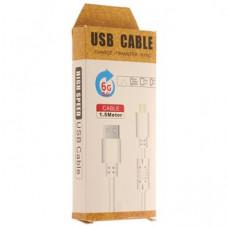 Кабель USB с Фильтром F-105 i6 Apple 1500mm (дешевый в упаковке)