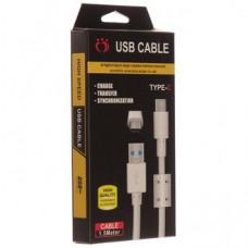 Кабель USB с Фильтром K-107 Type-C 1500mm (хороший в упаковке)