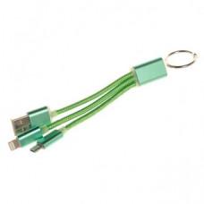 Кабель USB 2v1 Micro USB-i6 HB 10см