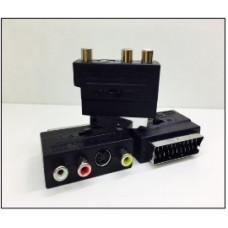 Адаптер SCART OUT to 3 RCA с переключателем