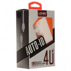 СЗУ LDNIO DL-AC62 2USB+кабель на i6 iPhone 4.2A