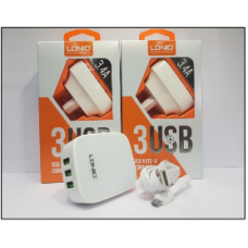 СЗУ LDNIO DL-AC65 3USB+кабель на i6 iPhone 3.4A