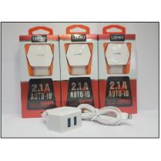 СЗУ LDNIO DL-AC56 2USB+кабель на i6 iPhone 2.1A