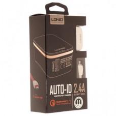 СЗУ LDNIO A1204Q 1USB+кабель на i6 iPhone 2,4A